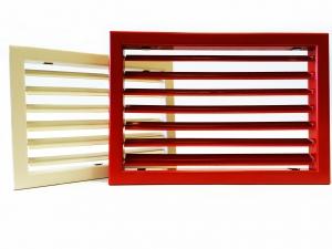 Настенные решетки с регулируемыми жалюзи и узкой рамкой AМН-К, AДН-К, АМР-К, АДР-К