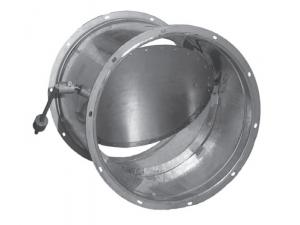 Клапаны обратные взрывозащищенные для вентиляционных систем взрывоопасных производств круглого сечения АЗЕ100.000 и АЗЕ101.000