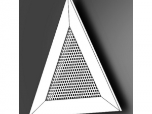 Решетка треугольная вентиляционная перфорированная РЭД-ПФТ