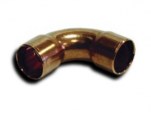 Отвод медный 45° двухраструбный дюймовый