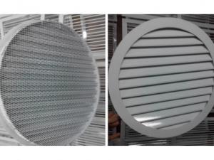 Круглая вент решетка наружная РЭД-КР3 с сеткой