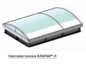 Ленточные зенитные фонари КЛАПАР-Л, КЛАПАР-ЛФ(Д) и КЛАПАР-ЛФ(А)